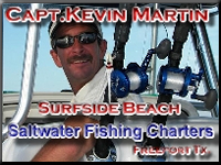 Captain Kevin Martin  With over 20 years of experience Fishing Freeport and Surfside Beach, Texas Federally Permitted and U.S.C.G. licensed.